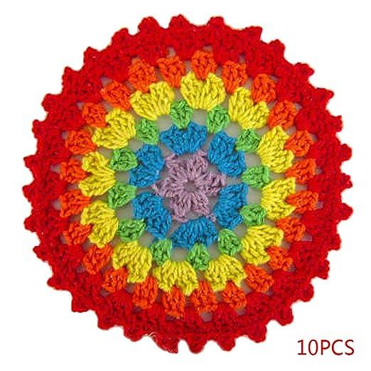 Compra Forbestest 10pcs Lugar algodón Colorido Ganchillo ...