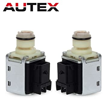 AUTEX 4L60E 4L65E 4L70E Transmission Shift Solenoid Valve Set A&B  Replacement For Chevy Astro 93-05/Chevy Colorado 04-12/Chevrolet Blazer