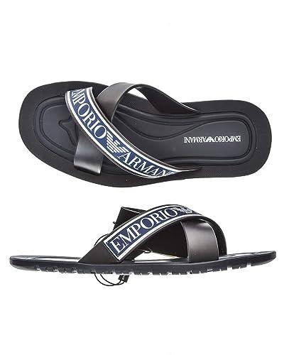 1de2c19da0dc9 Emporio Armani Sandales-Tongs, Couleur Bleu, Marque, ModãšLe Sandales-Tongs  X4P079 Bleu  Amazon.fr  Chaussures et Sacs