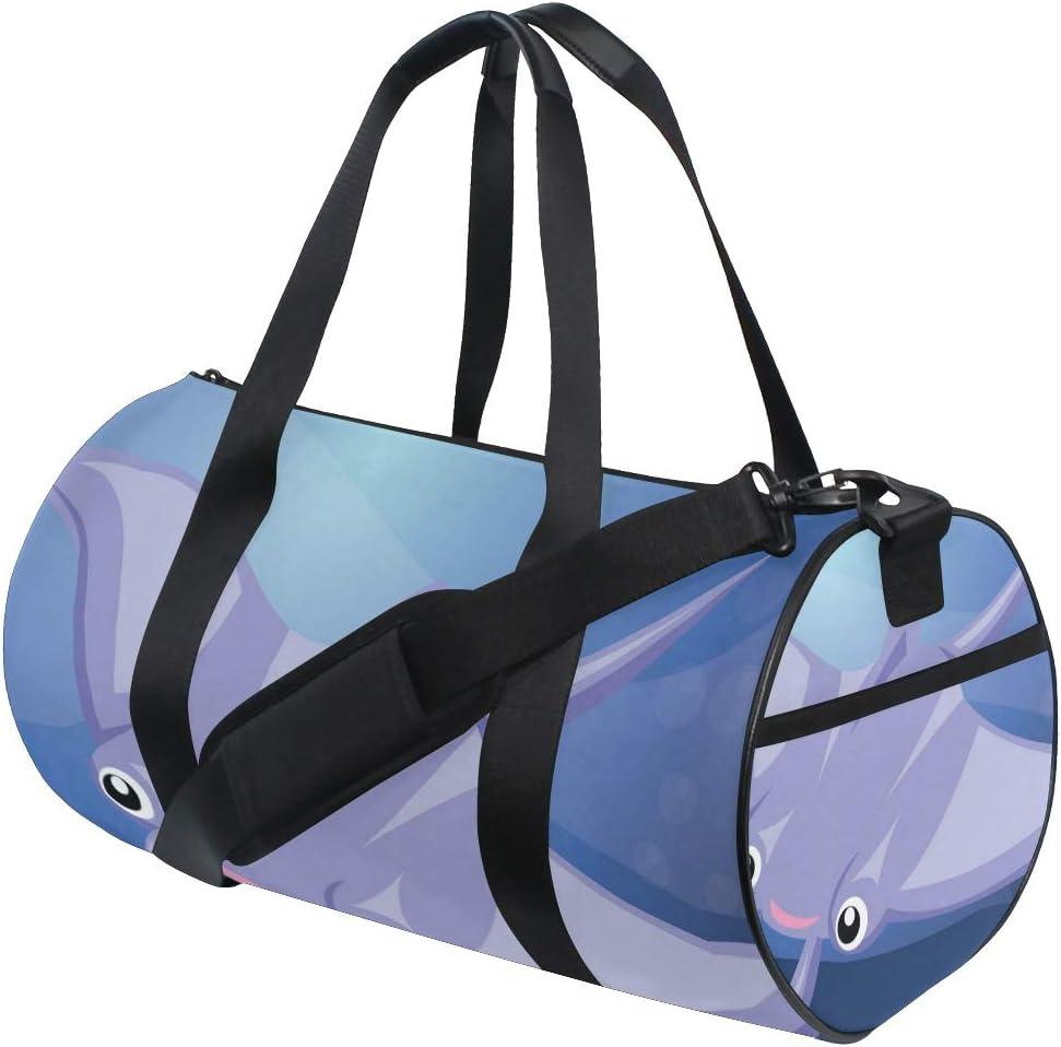 Duffel Bag Stingray Fish Under Water Women Garment Gym Tote Bag Best Sports Bag for Boys