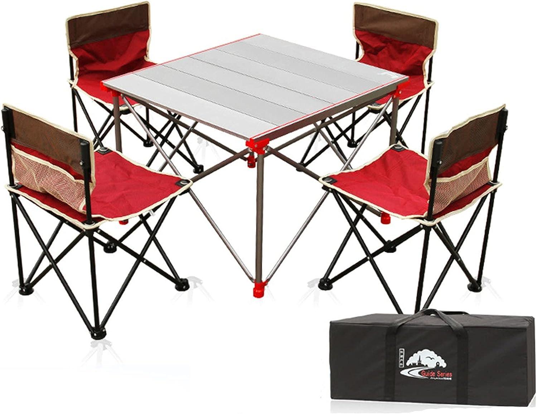 Matilda Mesa Plegable portátil al Aire Libre, Mesa y Silla Plegables, Mesa de Camping, Mesa de Barbacoa, Mesa de Pesca
