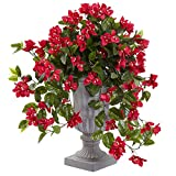 Nearly Natural 6839-RD UV Resistant (Indoor/Outdoor) Bougainvillea Flowering Silk Plant with Decorative Urn, N