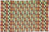 Fair Trade African Ghana Kente Cloth, 67'' Across Approximately, 7769