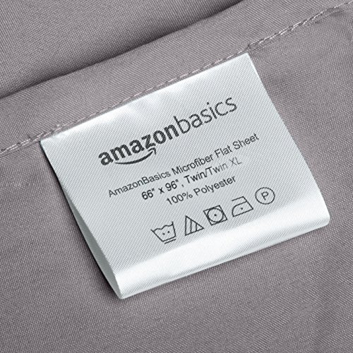 AmazonBasics Microfiber Sheet Set - Twin Extra-Long, Dark Grey by AmazonBasics (Image #3)