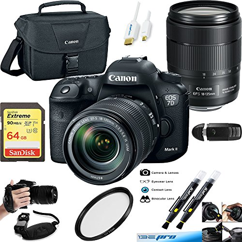 Canon EOS 7D Mark II DSLR Camera and 18-135mm f/3.5-5.6 USM Lens + Deal-Expo Essential Accessories Bundle by Deal-Expo