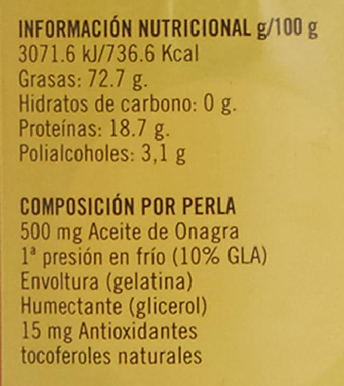 TERRA VERDA - Aceite Onagra 500Mg 400Perlas: Amazon.es: Salud y ...