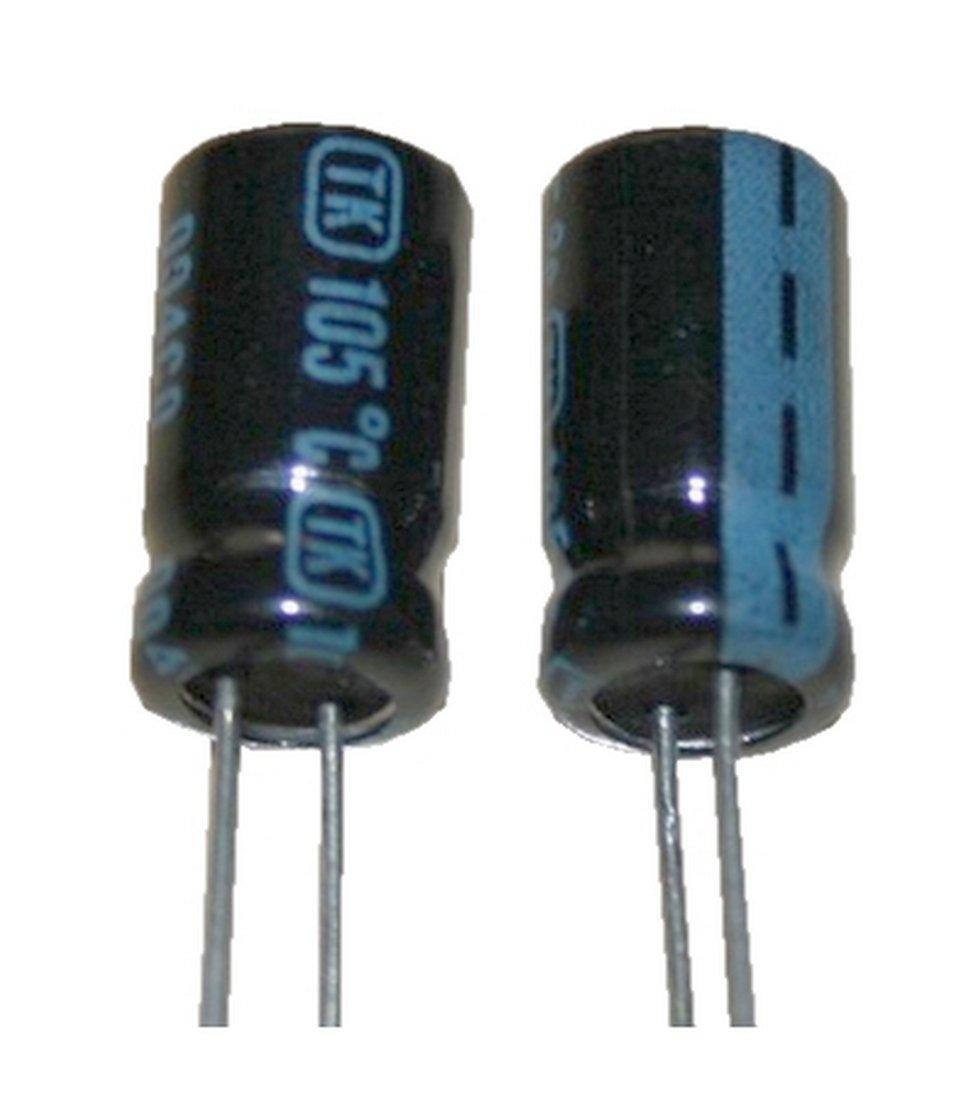 Elko Elektrolytkondensator Kondensator 100uF 100V 105/°C 2 St/ück 0028