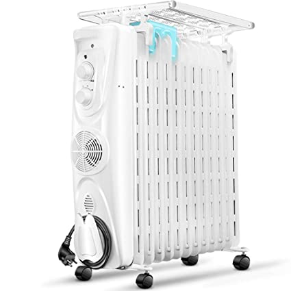 GONGFF Calentador Radiante De Cuarto Completo, Termostato Ajustable De Calefacción De Aceite De Radiador Lleno
