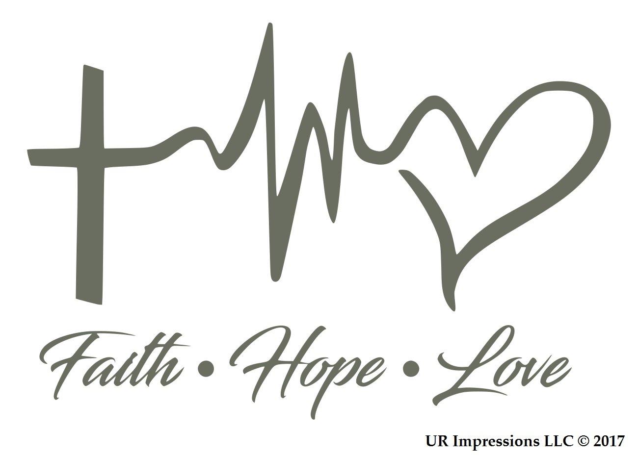 Amazon Ur Impressions Blk Faith Hope Love Decal Vinyl Sticker