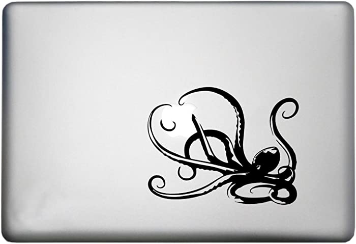 Octopus Decor MacBook Pro Decal is a Beach Decal. Available in 11, 12, 13 and 15 inch Laptop Sizes. Looks Great with Your Beach Wall Decals Theme Black