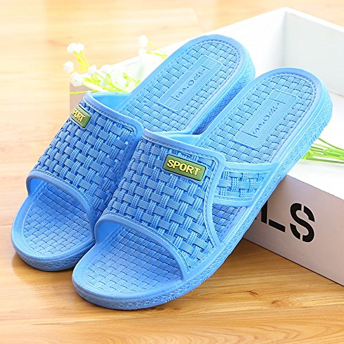 ZZHF Summer Home Slippers Men's and Women's Non-Slip Bath Slippers Couple Home Indoor Thick Plastic Slippers Bath Slippers (4 Colors Optional) (Size Optional) Slippers A 0APcA3