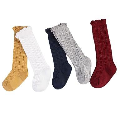 modernes Design Dauerhafter Service Wählen Sie für späteste CHIC-CHIC 5 Paare Baby Strumpf Kinder Kniestrümpfe Socken kniehohe niedlich  Warm Winter Einfarbig