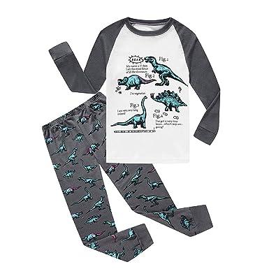 Boys Pyjamas Dinosaur Nightwear Cotton Toddler Clothes Kids Sleepwear  Winter Long Sleeve Christmas Pjs Sets 2 Piece Outfit Xmas Gift   Amazon.co.uk  Clothing 97d5bf3a316