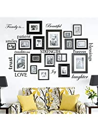 Set Of 12 Family Quote Words Vinyl Wall Sticker Picture Frame Wall Family  Room Art Decoration