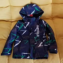 Aiyuke Boys Rain Jacket Outdoor Light Waterproof Jackets Raincoat Hooded Light Windbreaker for Camping Hiking