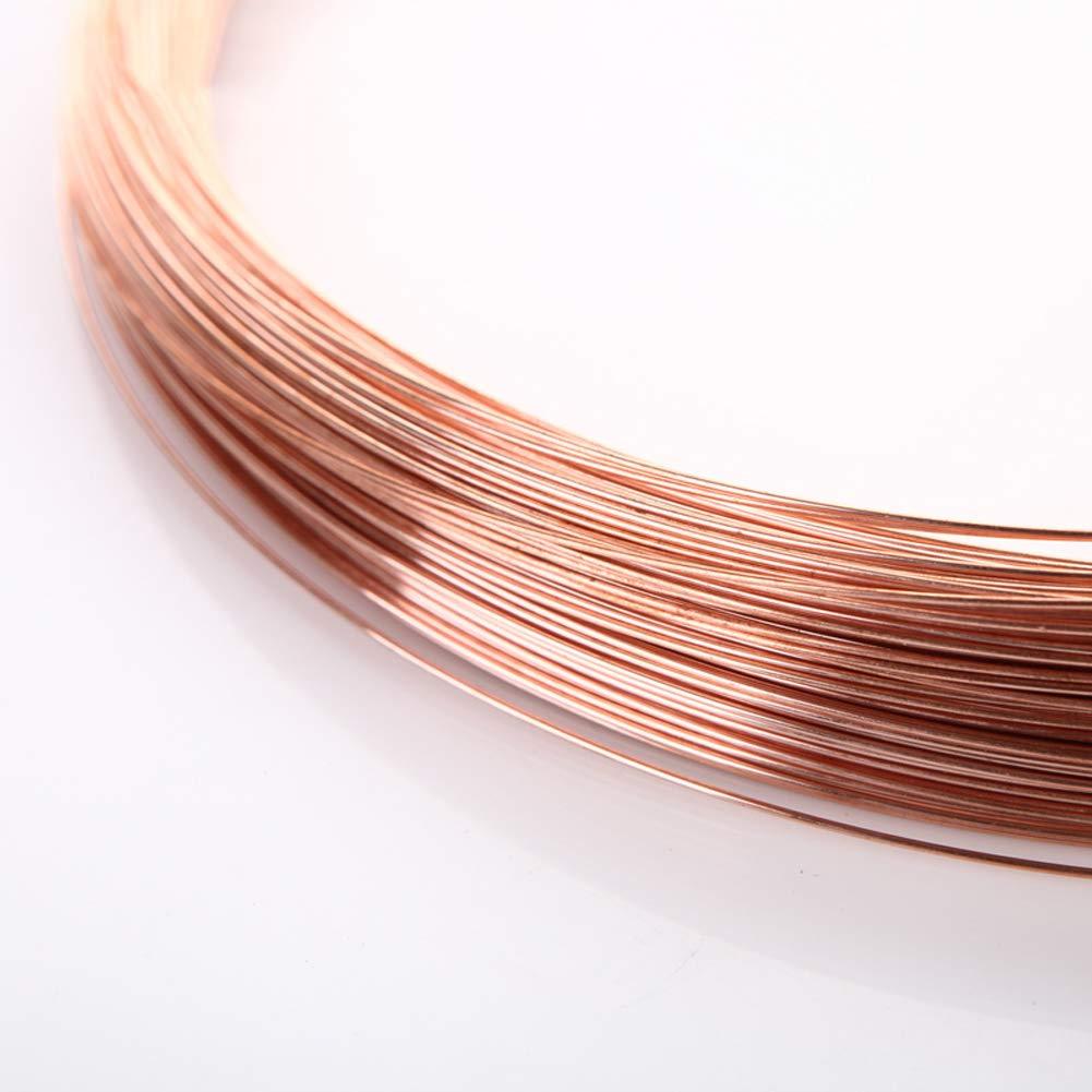 10m 2mm,Length Bare Copper Wire 99.9/% Pure Copper Solid Round Wire,Wire Diameter