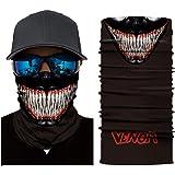 jiazery QZ Unisex Multi Functional 50+ UV Protection Face Mask Skull 3D Printed Balaclava Headwear