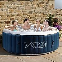 Wave Spas Atlantic Plus Inflatable HotTub, (6 Person, Blue) Hot Tub, Integrated Heater & Compressor