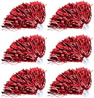 6Pcs Cheerleading Poms, 7 Colors Cheerleader Pom Poms for Sports Party Dance