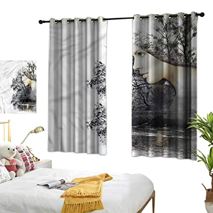 Amazon.com: G Idle Sky Bedroom Windproof Curtain Nature ...