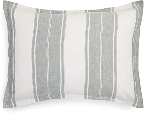 Details about  /Chelsea Park Standard Pillow Sham Red//Peach//Orange//White Striped