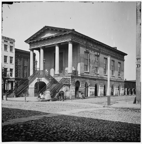 Photo: Old Market House, 188 Meeting Street, Charleston, South Carolina, SC, Civil War, 1865 . - Charleston Street Sc Market