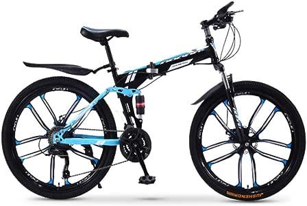 XWDQ Bicicleta De Montaña Plegable Bicicleta 20/24/26 Pulgadas ...