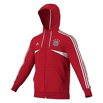 adidas FC Bayern München Kapuzenjacke Sweatjacke Herren Collegiate Navy Fcb True Red White im Online Shop von SportScheck kaufen