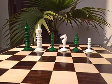 312 Multi Coloured Camel Bone 4 Chess Set