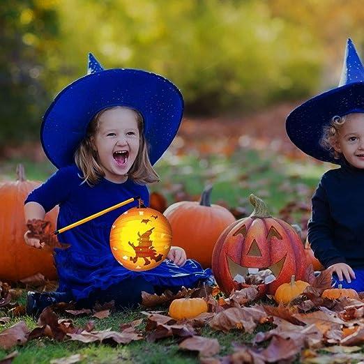 WELLXUNK Halloween Laternenstab LED Laternenstab Elektronischer Laternenstab,f/ür Kinderpartys,Kindergarten,Geburtstage,Halloween 6PCS Weihnachten und Mehr