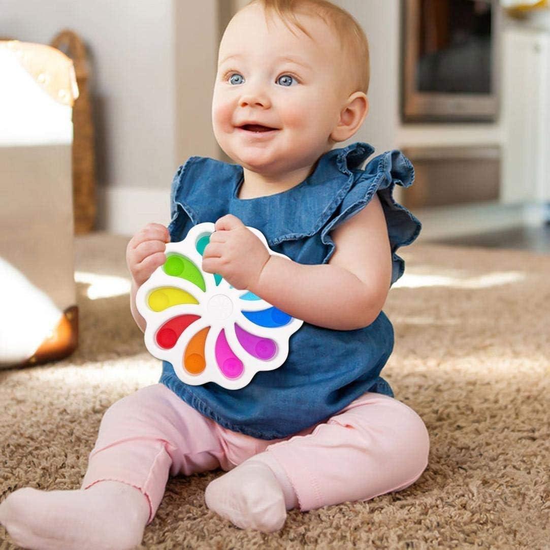 10cm, 2PCS Fidget Toys for Kids Adults Fidget Popper Stress Reliever Toys Simple Dimple Fidget Sensory Toy Bubble Popper Fidget Toy Stress Anxiety Relief Toys for ADHD Autism Special Needs