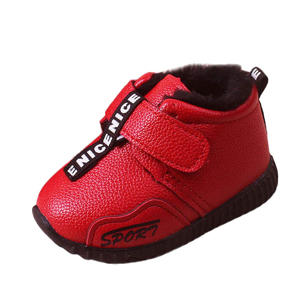 SMTSMT Girls Boots Fashion Cute Infant Toddler Girls Boys Winter Warm Sport Shoes Snow Boots Sneakers