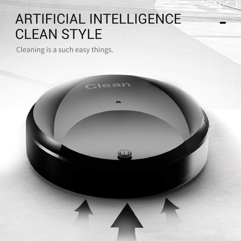 amazon com: tuscom automatic robot vacuum cleaner rechargeable smart edge  cleaning suction sweeper robotic auto home cleaning for clean carpet  hardwood