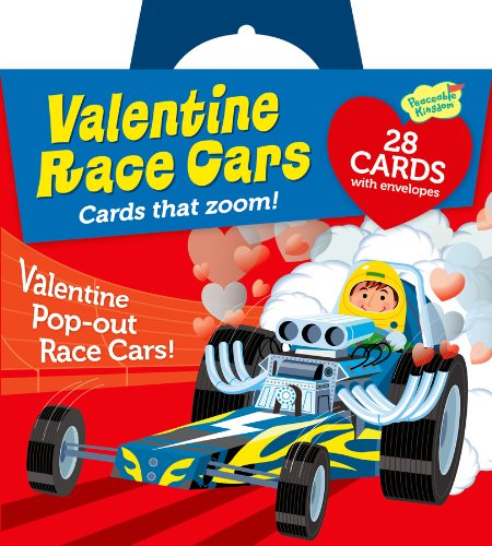 Peaceable Kingdom Pop-Out Race Car Super Valentine Card Pack
