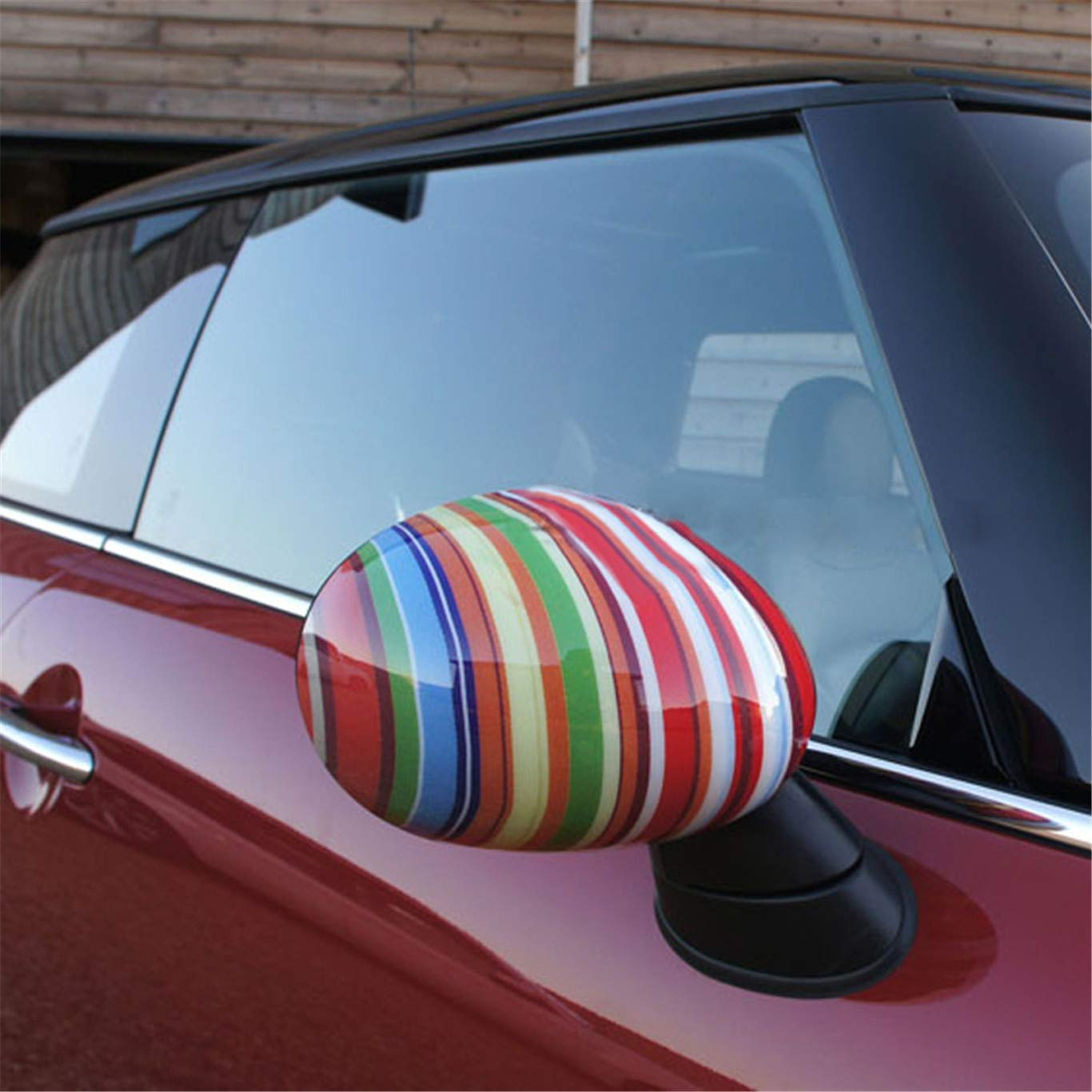 HDX Union Jack John Cooper Works ABS Cover Trim Cap for Mini Cooper R55 Clubman R56 Hatchback R57 Covertible R58 Coupe R59 Roadster R60 Countryman R61 Paceman Non Power Folding Mirror, Checkered