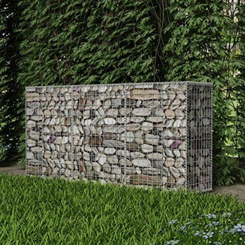 """Festnight Gabion Planter Steel Fencing Wire Patio Flower Plant Bed Basket Stone Wire Garden Outdoor Landscape Galvanized Steel Walls Panels 78.7""""x19.7""""x39.4"""" Mesh"""