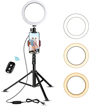 "UBeesize 8"" Selfie Ring Light with Tripod Stand"