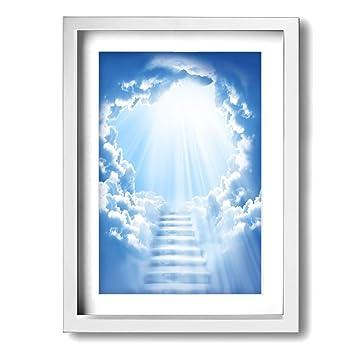 Amazoncom Heaven Stairway 12x16 Inch Picture Frame Plexiglass