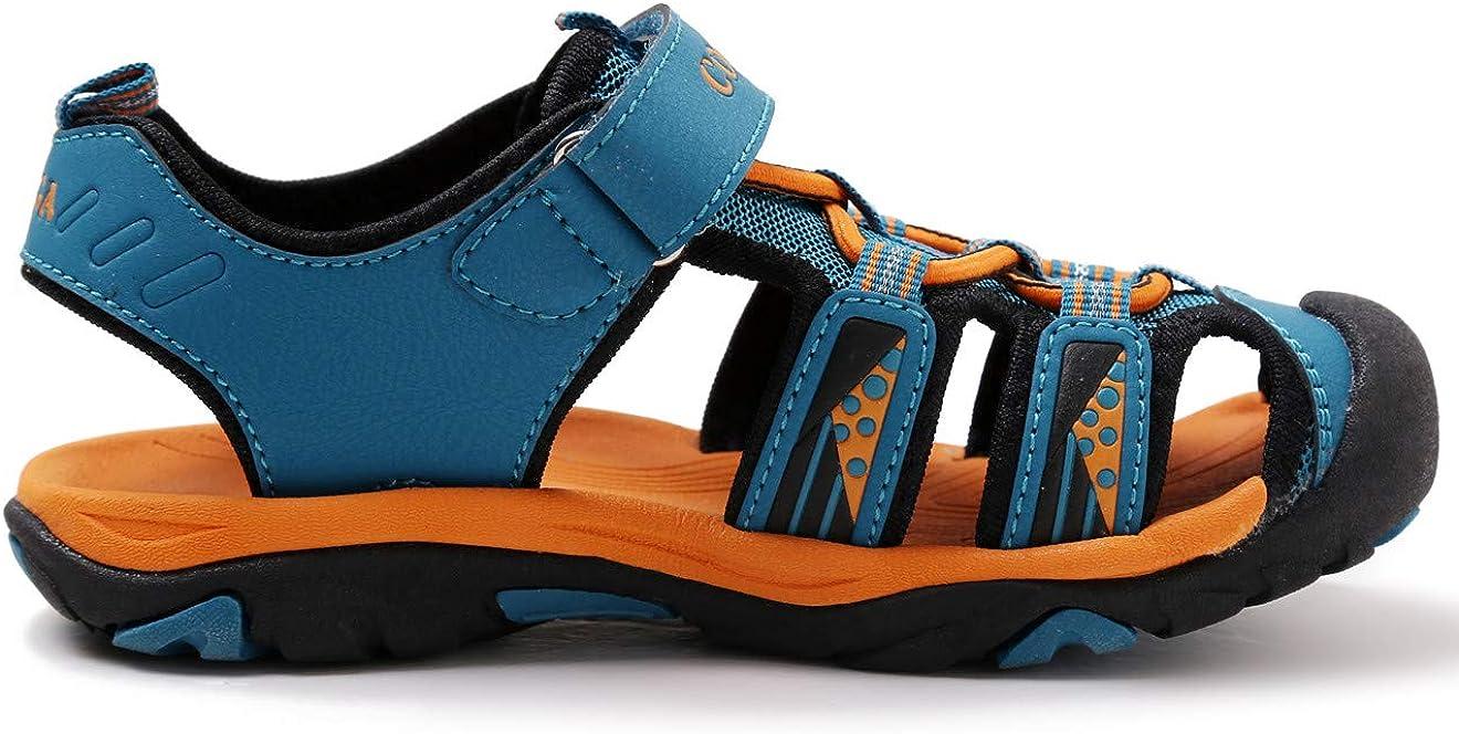 Toddler//Little Kid//Big Kid DADAWEN Boys Girls Summer Beach Outdoor Closed-Toe Sport Sandals