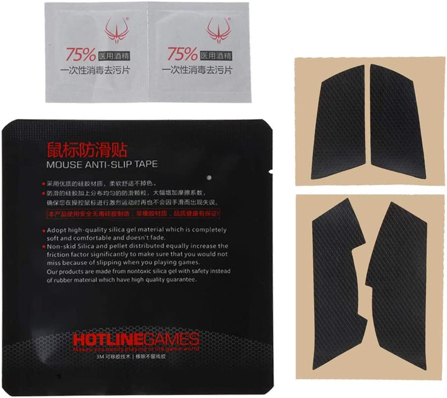 Heyuan Original Hotline Games Mouse Skates Side Stickers Sweat Resistant Pads Anti-Slip Tape for Logitech G102 G304 GPRO Wired Mouse