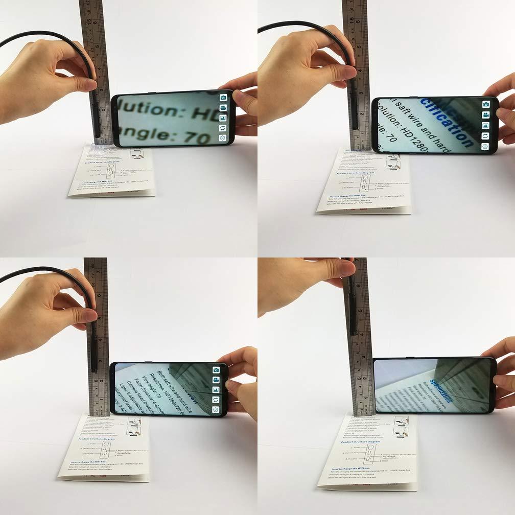 pour iOS iPhone Smartphone Android de Samsung,1M 2m 5m WAOBE WiFi cam/éra Endoscope 10m 1200P HD r/églable 8 Pcs LED Light Inspection Endoscope cam/éra /étanche 1m
