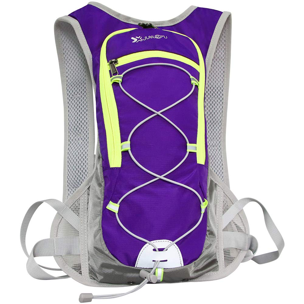 LESUFINE Hydration Backpack with 2L 69oz Water Bag Bladder Lightweight Nylon Pack for Running Camping Cycling Climbing Hiking Outdoor Sport