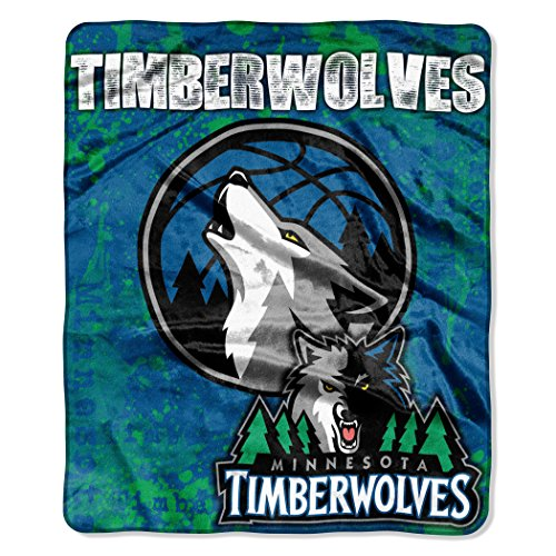 The Northwest Company Officially Licensed NBA Minnesota Timberwolves Dropdown Plush Raschel Throw Blanket, 50