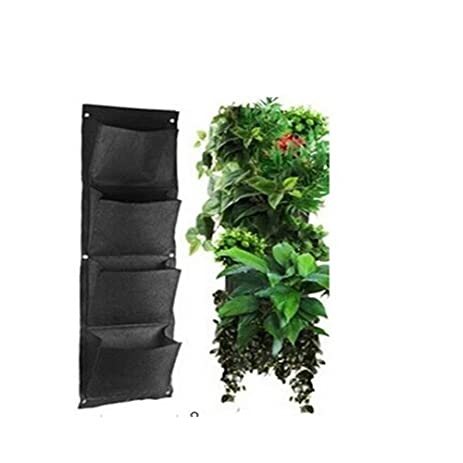 Amazon.com: Glovion Vertical Wall-mounted Polyester Wall Planting ...
