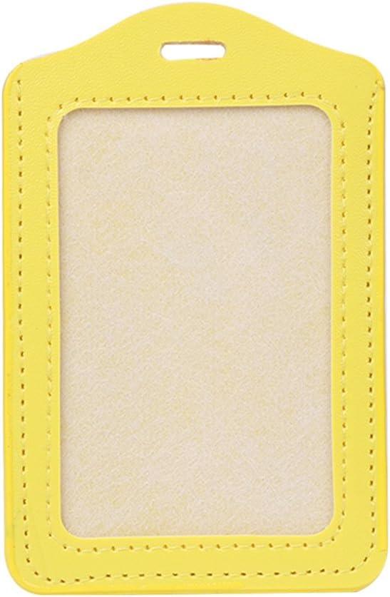 RROVE Porte-Cartes 10 Couleurs ID fen/être Porte-Cartes de Travail Professionnel /étui en Cuir Badge Vertical