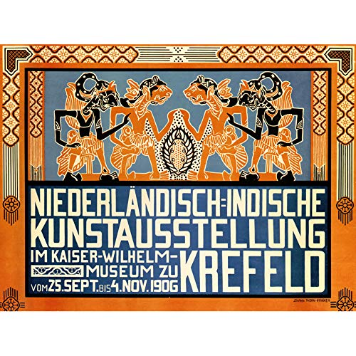 ADVERTISING EXHIBITION INDONESIA NETHERLANDS KREFELD GERMANY POSTER PRINT LV812