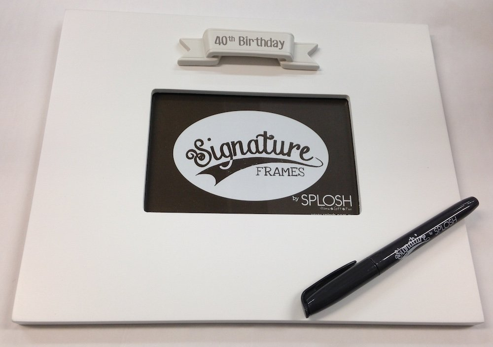 Splosh 40Th Birthday Signature Photo Frame By
