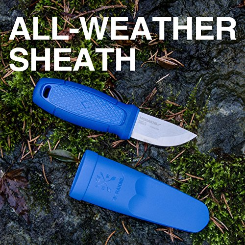 Morakniv Eldris Fixed-Blade Pocket-Sized Knife with Sandvik Stainless Steel Blade, Lanyard and Firestarter, Blue, 2.2 Inch by Morakniv (Image #3)