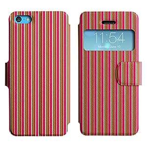 LEOCASE línea vertical Funda Carcasa Cuero Tapa Case Para Apple iPhone 5C No.1005586