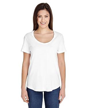 American Apparel Women's Ultra Wash Short Sleeve Tee, White, Large